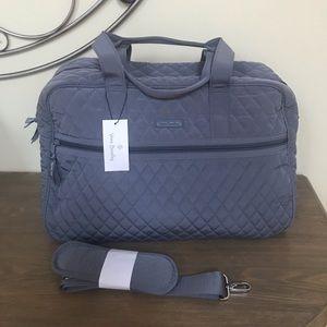 NEW Vera Bradley Traveler Bag in Carbon Gray
